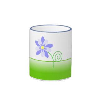 Columbine flower mug