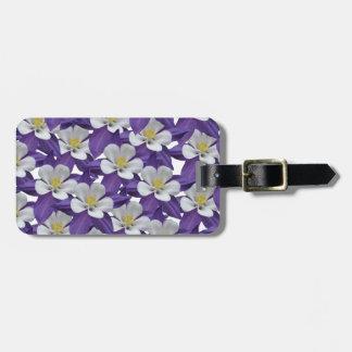 Columbine Flower Pattern Bag Tag