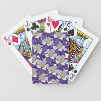 Columbine Flower Pattern Bicycle Playing Cards