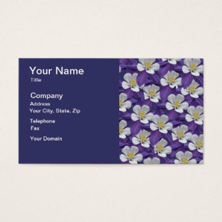 Columbine Flower Pattern Business Card