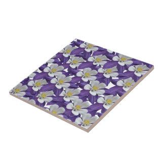 Columbine Flower Pattern Ceramic Tile
