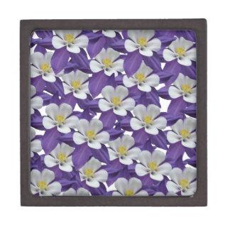 Columbine Flower Pattern Gift Box