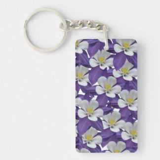 Columbine Flower Pattern Keychain