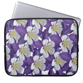 Columbine Flower Pattern Laptop Sleeve