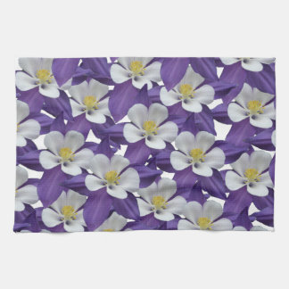 Columbine Flower Pattern Towel