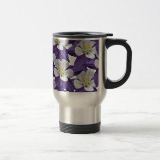 Columbine Flower Pattern Travel Mug