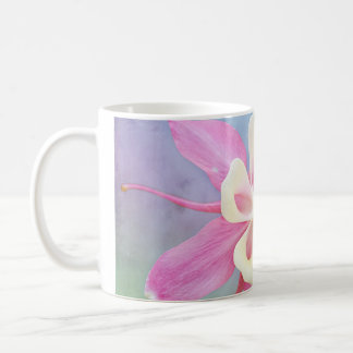 Columbine Flower Pink & White Classic White Coffee Mug