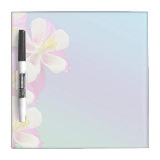 Columbine Flower Pink & White Dry-Erase Board