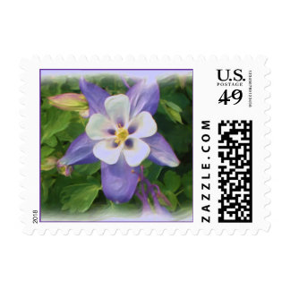 Columbine flower stamp