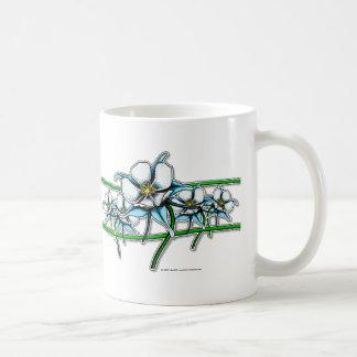 Columbine Flower Strip Coffee Mug