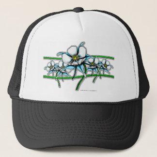 Columbine Flower Strip Trucker Hat