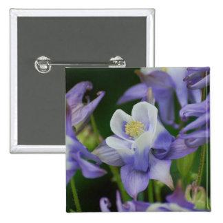 Columbine Flowers Buttons