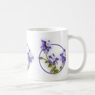 Columbine Flowers Classic White Coffee Mug