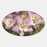 Columbine flowers decorative sticker