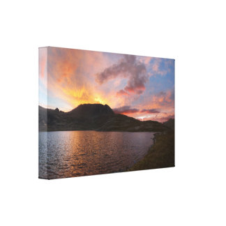 Columbine Lake Sunrise - Weminuche Wilderness Canvas Print