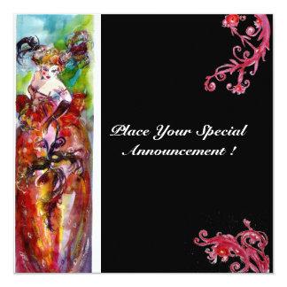 COLUMBINE,Mardi Gras, Sweet 16 Masquerade Party Card