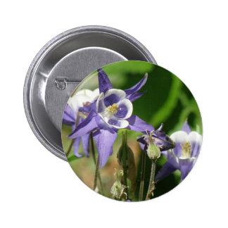 Columbine Plants Round Button