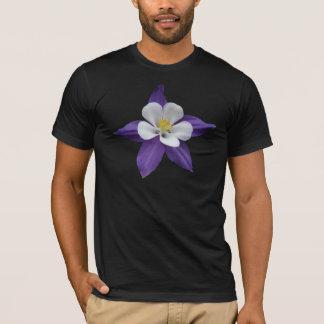 Columbine Purple and White Flower Dark T-shirt