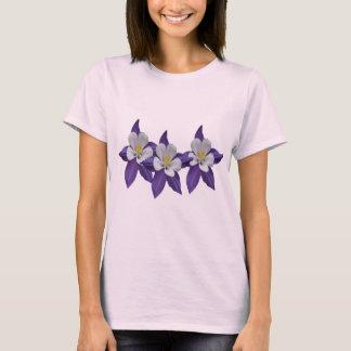 Columbine Purple and White Flower T-shirt