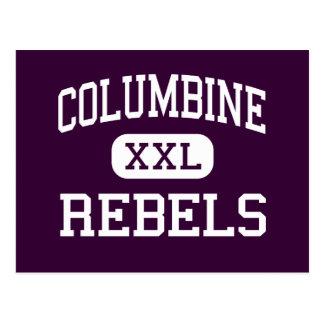 Columbine - Rebels - High - Sunland California Postcard