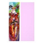 COLUMBINE, rosa rojo del verde azul Papelería Personalizada