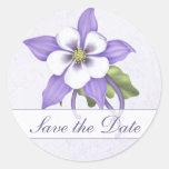 Columbine Save the Date Envelope Sticker - Custom Sticker