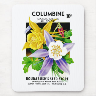 Columbine Seed Packet Label Mouse Pad