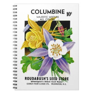 Columbine Seed Packet Label Notebook
