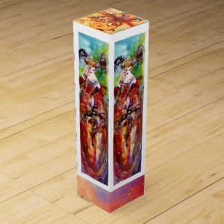 COLUMBINE / Venetian Masquerade Ball Wine Bottle Boxes