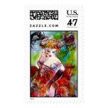 COLUMBINE / Venetian Masquerade Ball Postage Stamp
