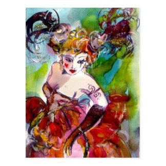 COLUMBINE / Venetian Masquerade Ball Postcard