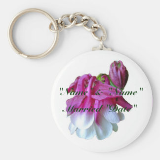 Columbine Wedding Keychain to Personalize