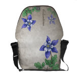 Columbines Wildflowers Customizable Courier Bags