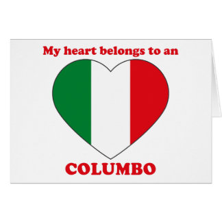 Columbo Greeting Card