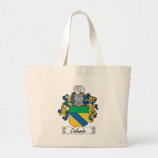 Columbo Family Crest Jumbo Tote Bag