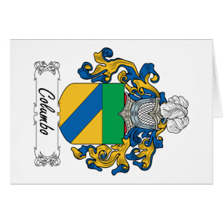 Columbo Family Crest Greeting Card