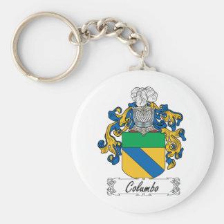 Columbo Family Crest Basic Round Button Keychain