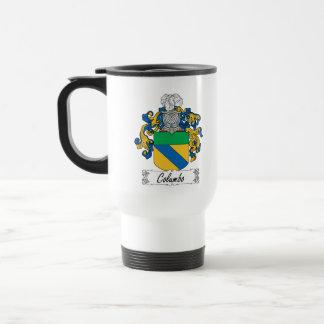 Columbo Family Crest 15 Oz Stainless Steel Travel Mug