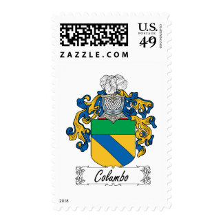 Columbo Family Crest Postage Stamps