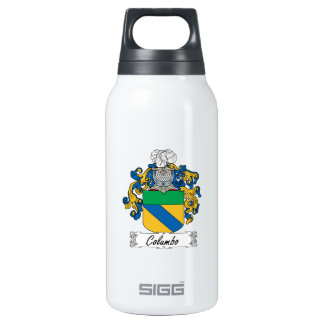 Columbo Family Crest 10 Oz Insulated SIGG Thermos Water Bottle