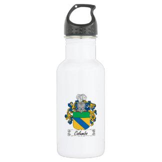 Columbo Family Crest Stainless Steel Water Bottle