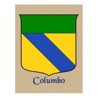 Columbo Heraldic Shield Postcard