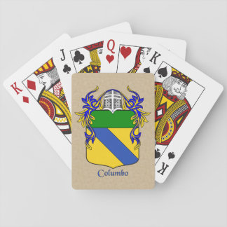 Columbo Heraldic Shield with Mantle Playing Cards