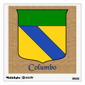 Columbo Historical Shield on Burlap Style Wall Decal
