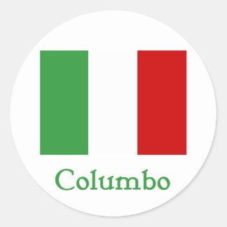 Columbo Italian Flag Classic Round Sticker