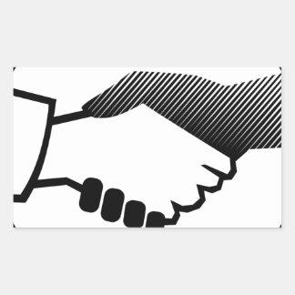 columbus 16  black white history agreement partner rectangular sticker