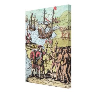 Columbus at Hispaniola 2 Gallery Wrapped Canvas