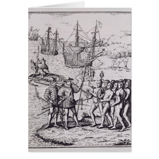 Columbus at Hispaniola 2 Cards