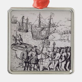 Columbus at Hispaniola 2 Christmas Tree Ornaments