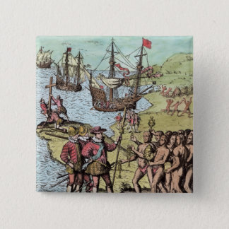 Columbus at Hispaniola Button